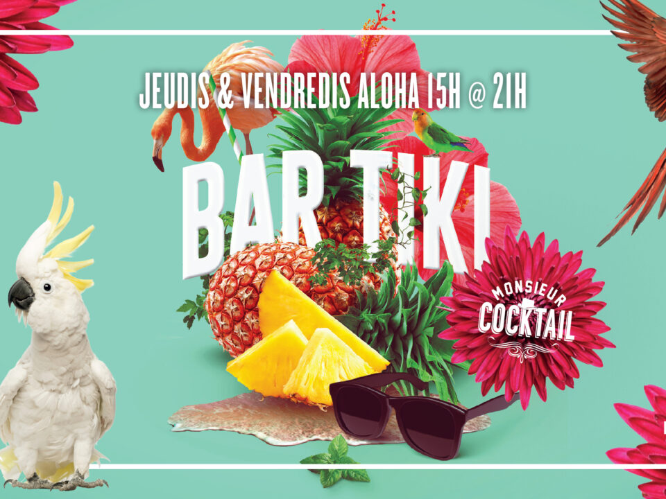 Bar tiki à la Baie de Beauport avec Monsieur Cocktail!