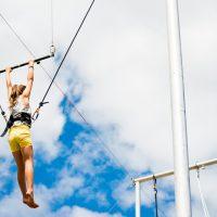 Trapèze volant avec l'École de Cirque de Québec
